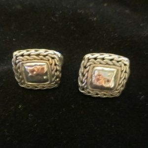 JOHN HARDY Sterling Exquisite Square Palu EARRINGS